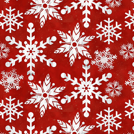 1617-88 Red Snowflake