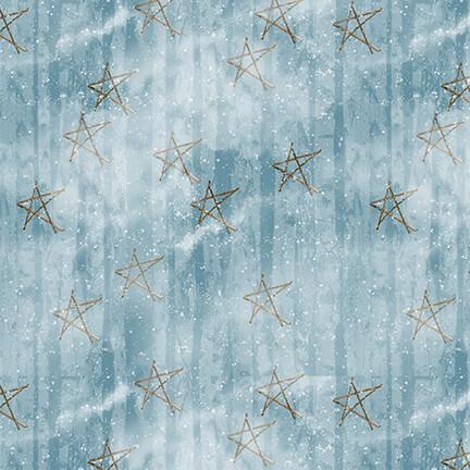 Snow Days Blue Faded Stars