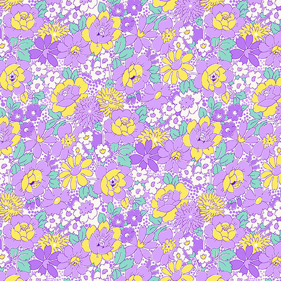 Nana Mae III - Purple Medium Floral