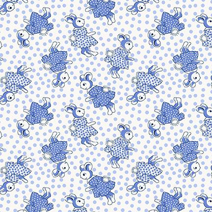 Nana Mae III - Blue Rabbits