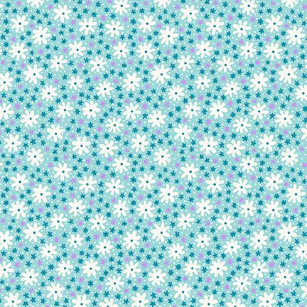 Nana Mae III - Aqua  Medium Daisy