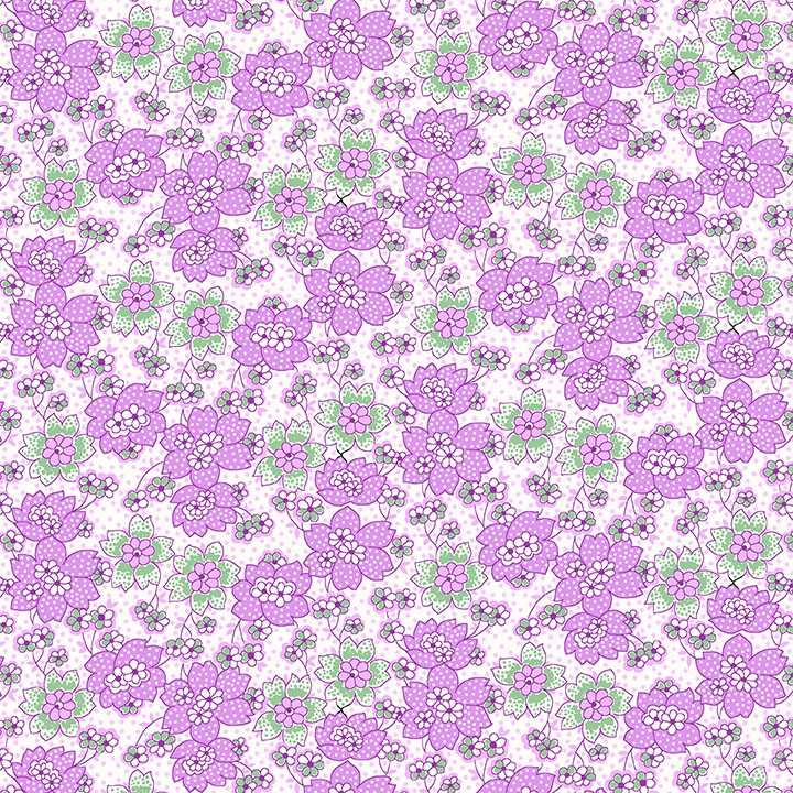 HG- Nana Mae III Purple Dotted Flowers