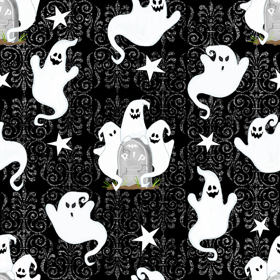 Glow In The Dark Ghosts Allover - Ghostly Glow Town
