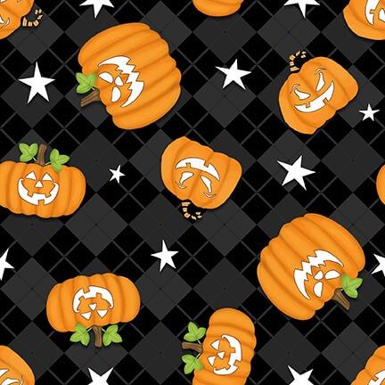 Ghostly Glow Town - Tossed Pumpkins Black