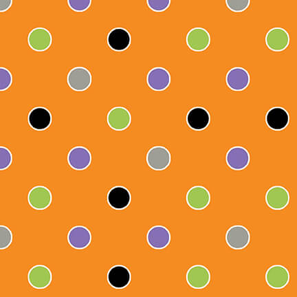 Orange Ghostly Glow Town Dots *SALE*