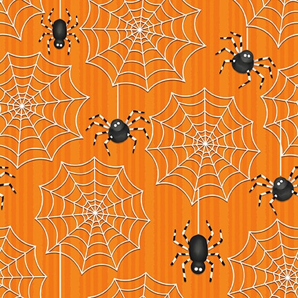 Ghostly Glow Town - Lrg Spider & Web