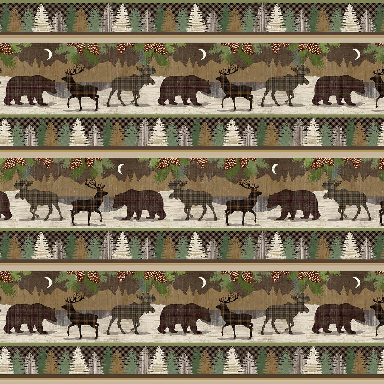 Twilight Lake Animal Stripe 1692-33 Multi