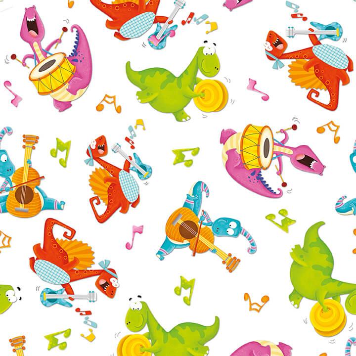 Dino Mates Dancing Dinos White/Multi 1703-46