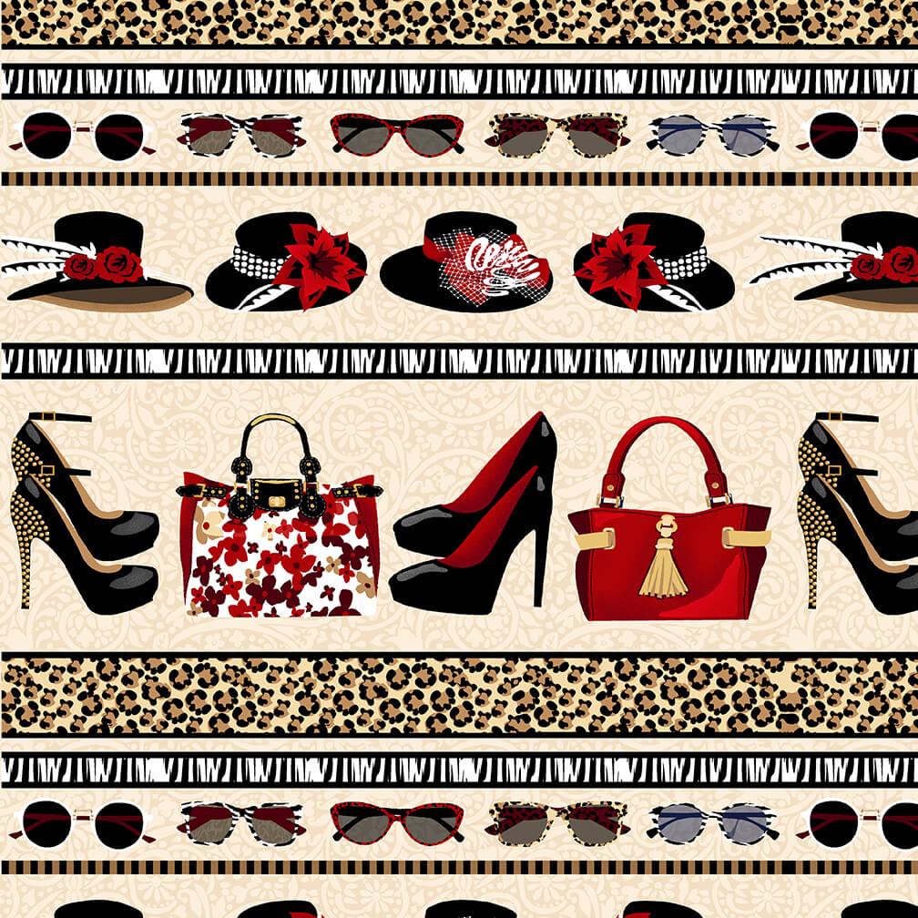 Shoe Love Is True Love - Border Stripe