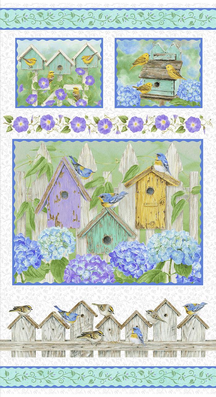 Hydrangea Birdsong Panel