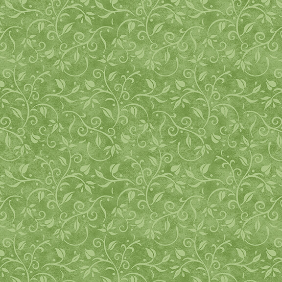 Vine Texture Fabric Hydrangea Birdsong Collection by Henry Glass Fabrics