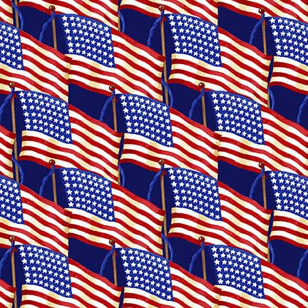 Land of the Free Set Flag on Blue