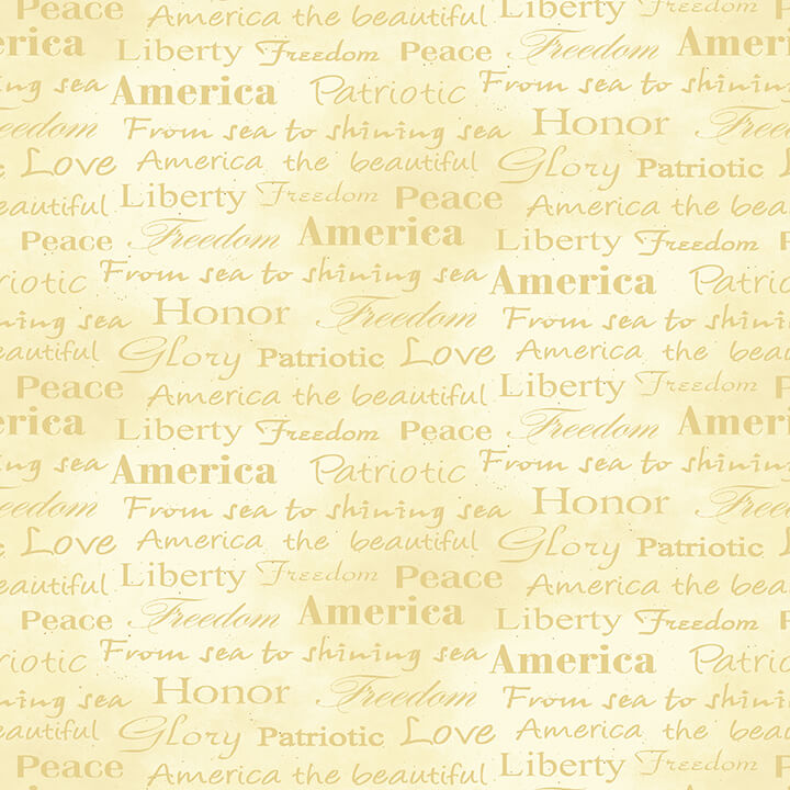 Land of the Free Patriotic 1836-44 Cream