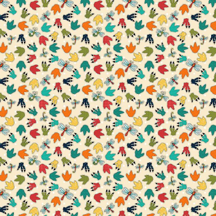 1852-44 Cream Paw Print  Whirleygig Magic