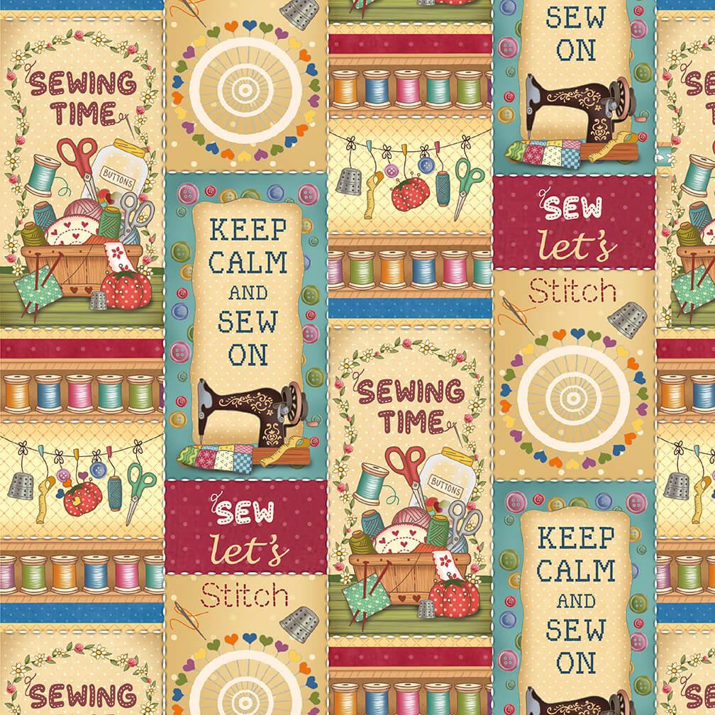 Sew Let Stitch-Patchwork-66-44 Tan