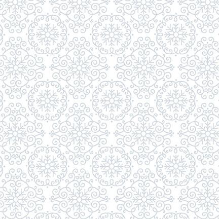 HG-1880-01W White Quilters Flour Medallion