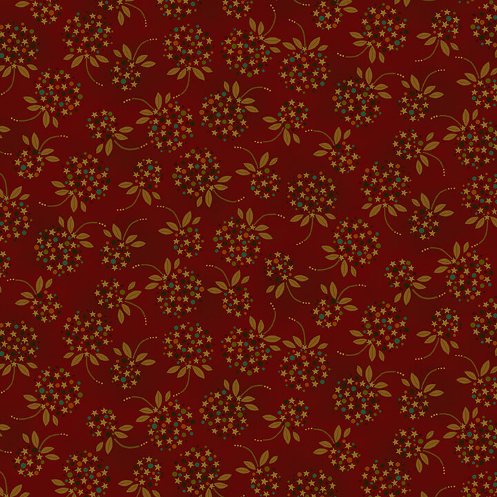 Idaho Prairie Star - Red Floral Star and Dot