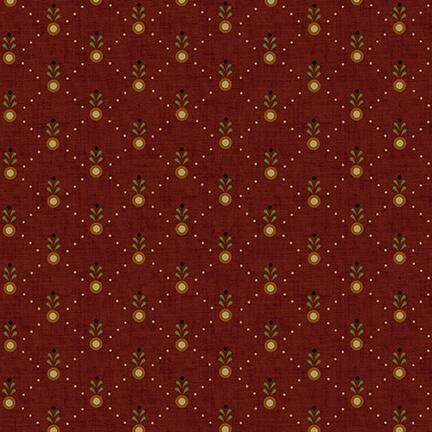 Idaho Prairie Star Diagonal Dots Red
