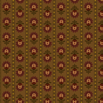 Idaho Prairie Star - Brown Wallpaper Stripe