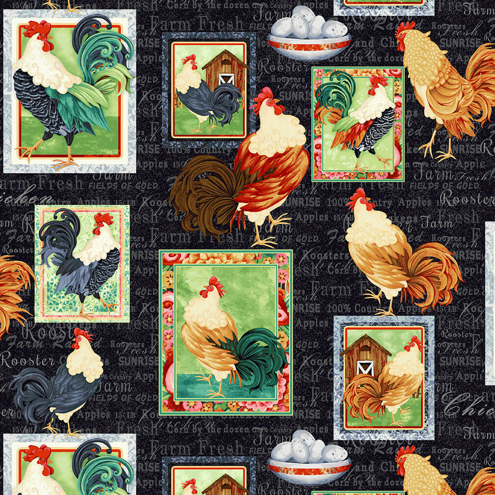 Farm Raised Roosters Patch 1974-99 BLACK