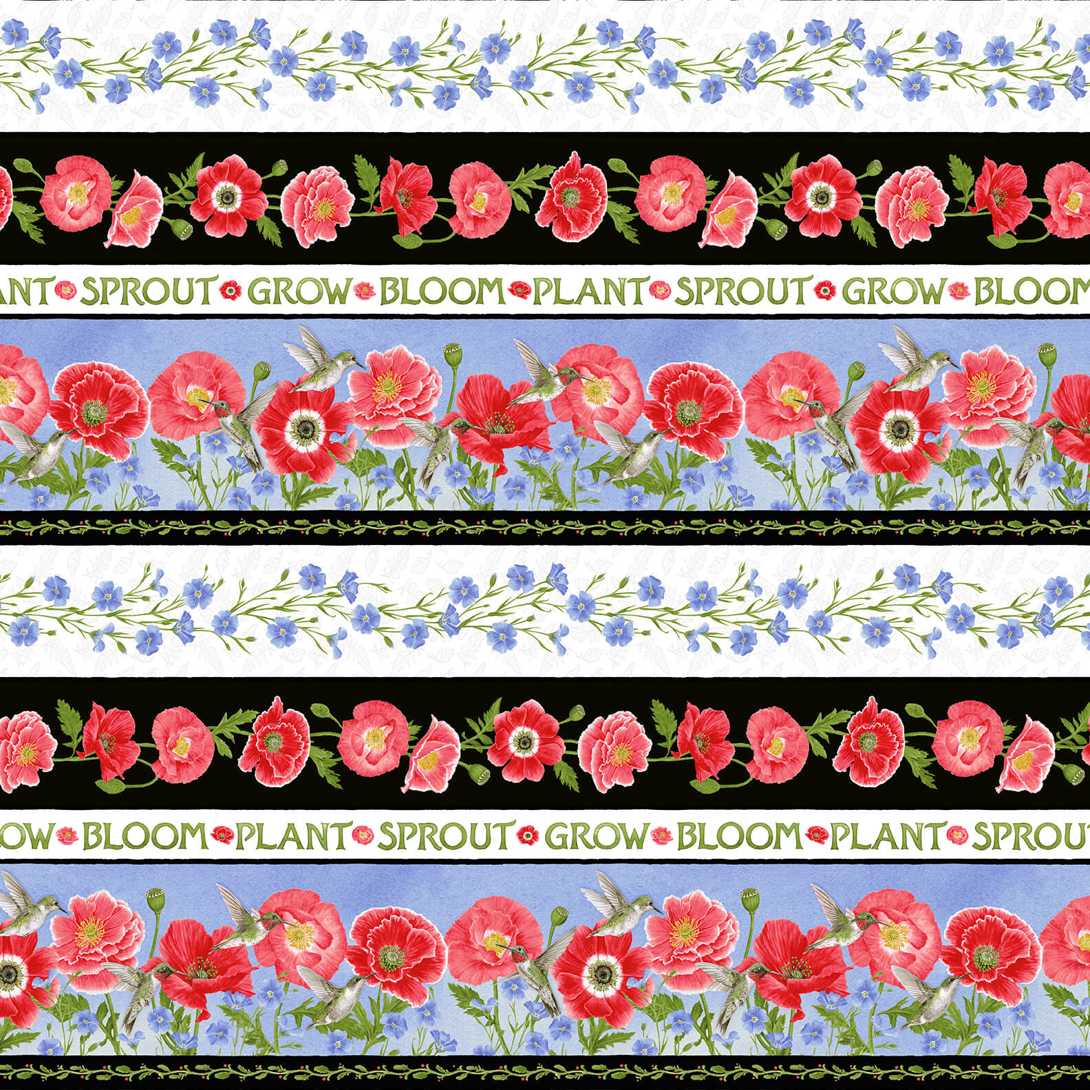 MULTI poppy border