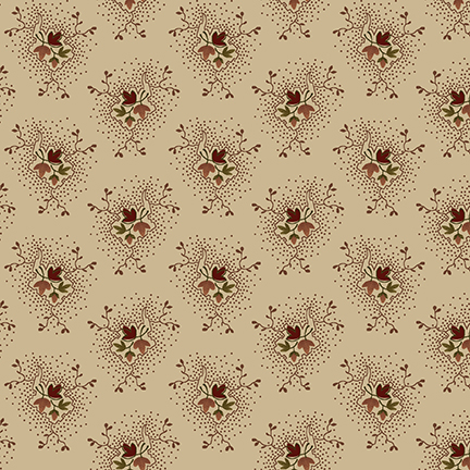 2107-46 cream with red flowers