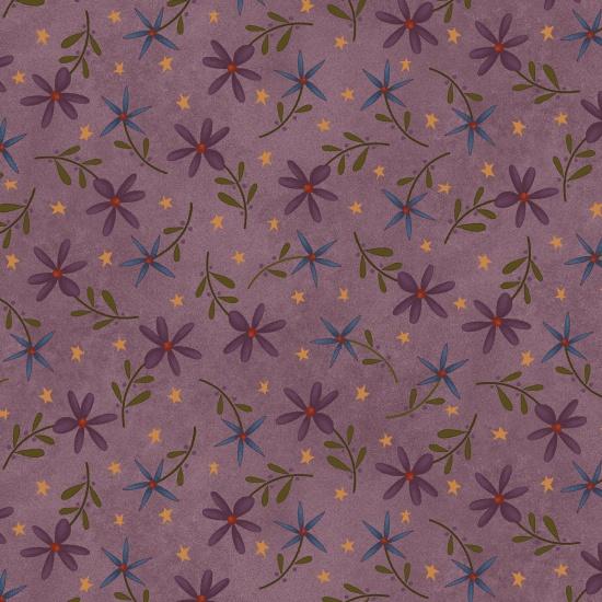 Folk Art Flannel 2 Daisy Toss Purple