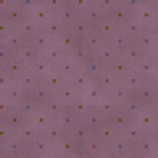Folk Art Flannel 2 Square Dots Purple