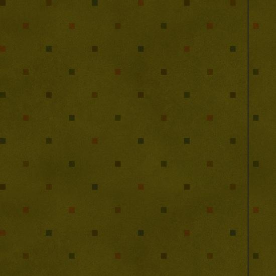 Folk Art Flannel 2 Square Dots Green