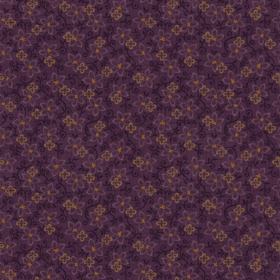Folk Art Flannel 2 Small Floral Purple