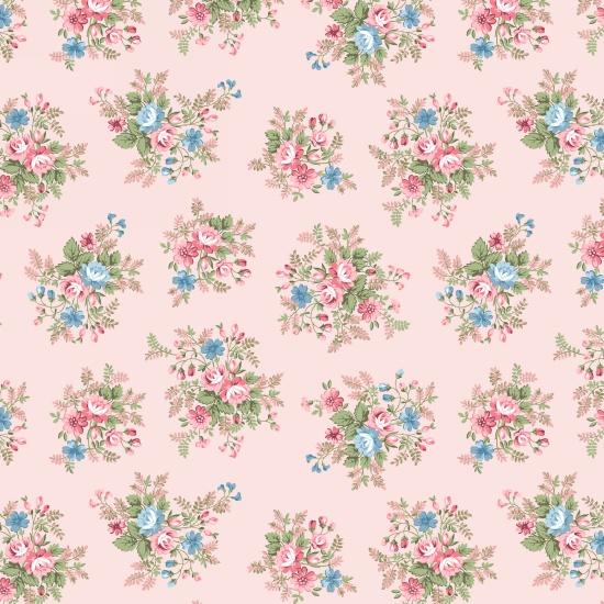 Pink Med Floral - Morning in the Garden