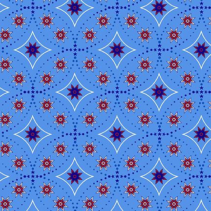 Bandana Stars blue