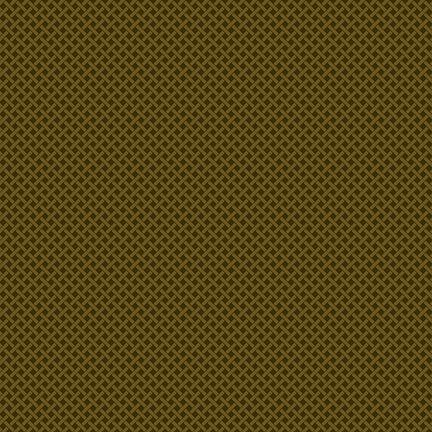 Buttermilk Winter - Green Basket Weave