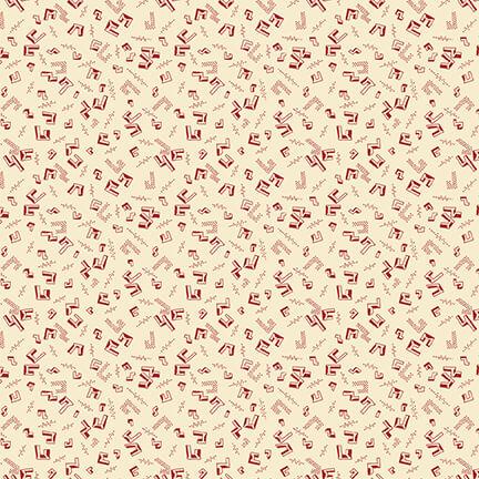 Henry Glass 2288-33 Cream/Red