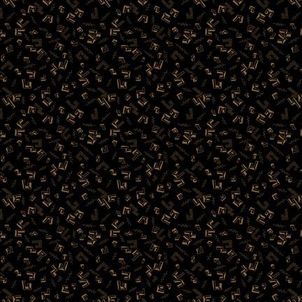 Buttermilk Winter - Black Floating Geo