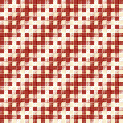 Buttermilk Winter - Red/Cream Mini Buffalo Check