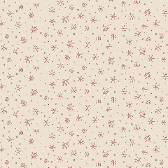 2306-33 Cream Snowflakes Winter Wonderland