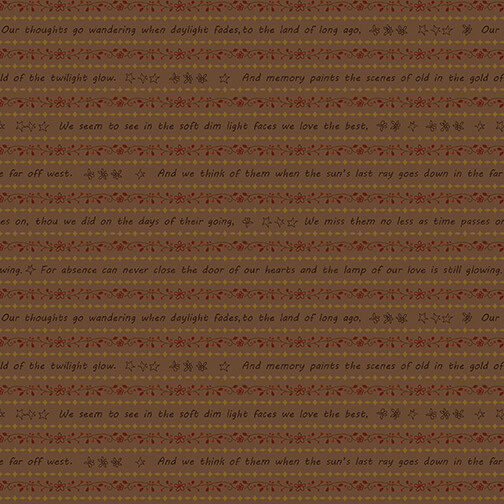2314-35 Cocoa Word Stripe Home is Best