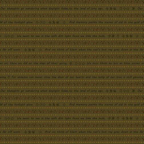 2314-66 Green Word Stripe Home is Best