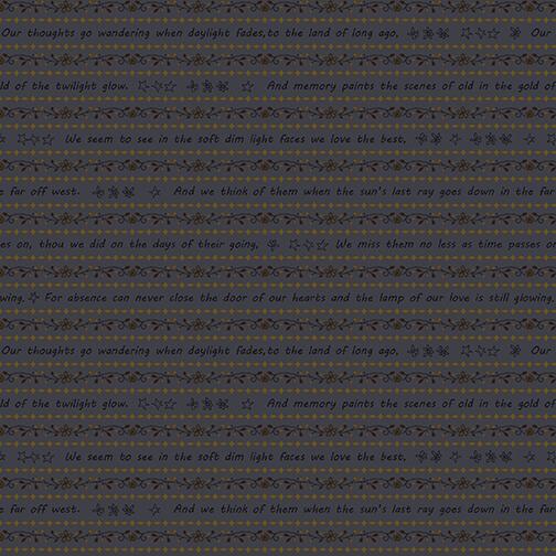 2314-77 Blue Word Stripe Home is Best