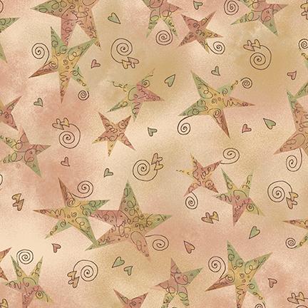 Irish Blessing Gold Swirly Stars 2371 - 44