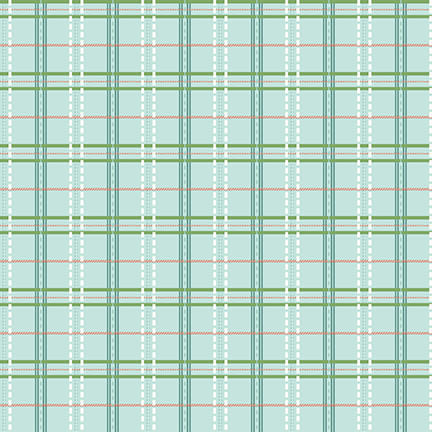 Blue-Green Plaid:  Spiced Garden by Mary Jane Carey of Holly Hill Quilt Designs for Henry Glass & Co.