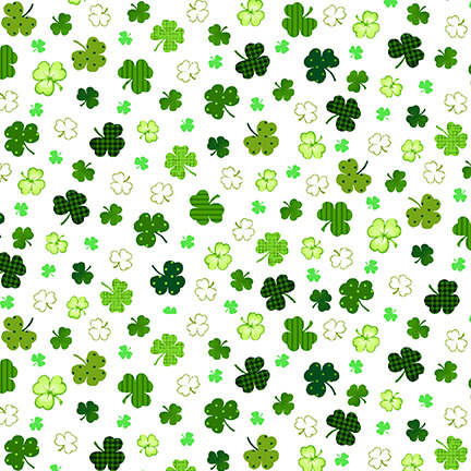 Clovers on White 2401-1