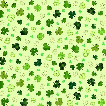 Green Clovers on Green 2401-66