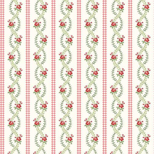 Violet's Garden 2410-33 CREAM Stripe