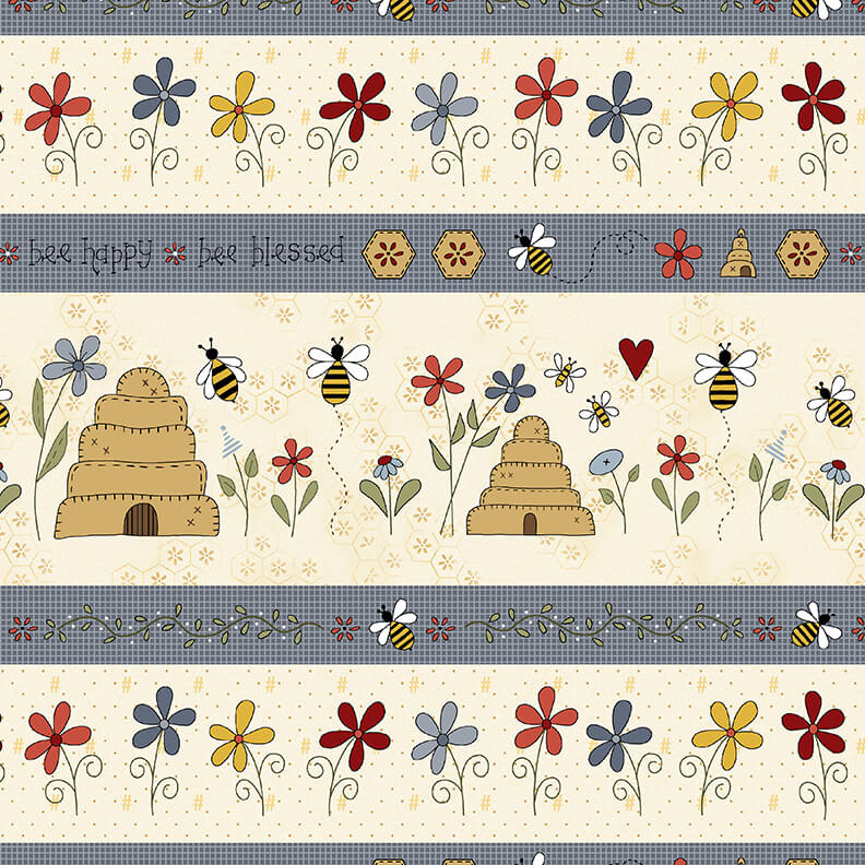 All About the Bees Cream Bee Border