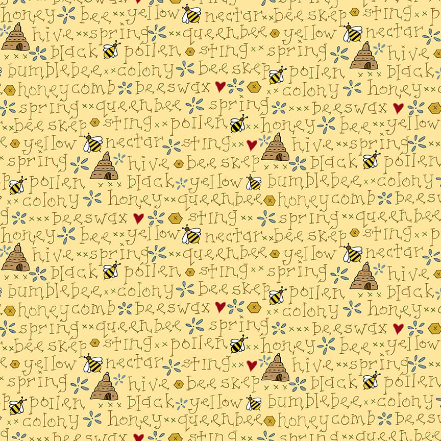 All About the Bees Yellow Bee Word *Sale*