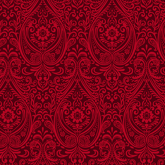 Black White & Red Hot Arabesque Red