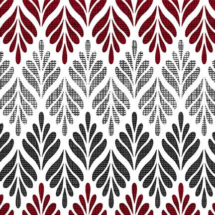 Black White & Red Hot Chevron Fern White/Multi - COMING SOON