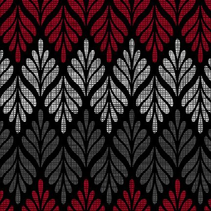 Black, White & Red Hot 2442-99 BLACK-MULTI